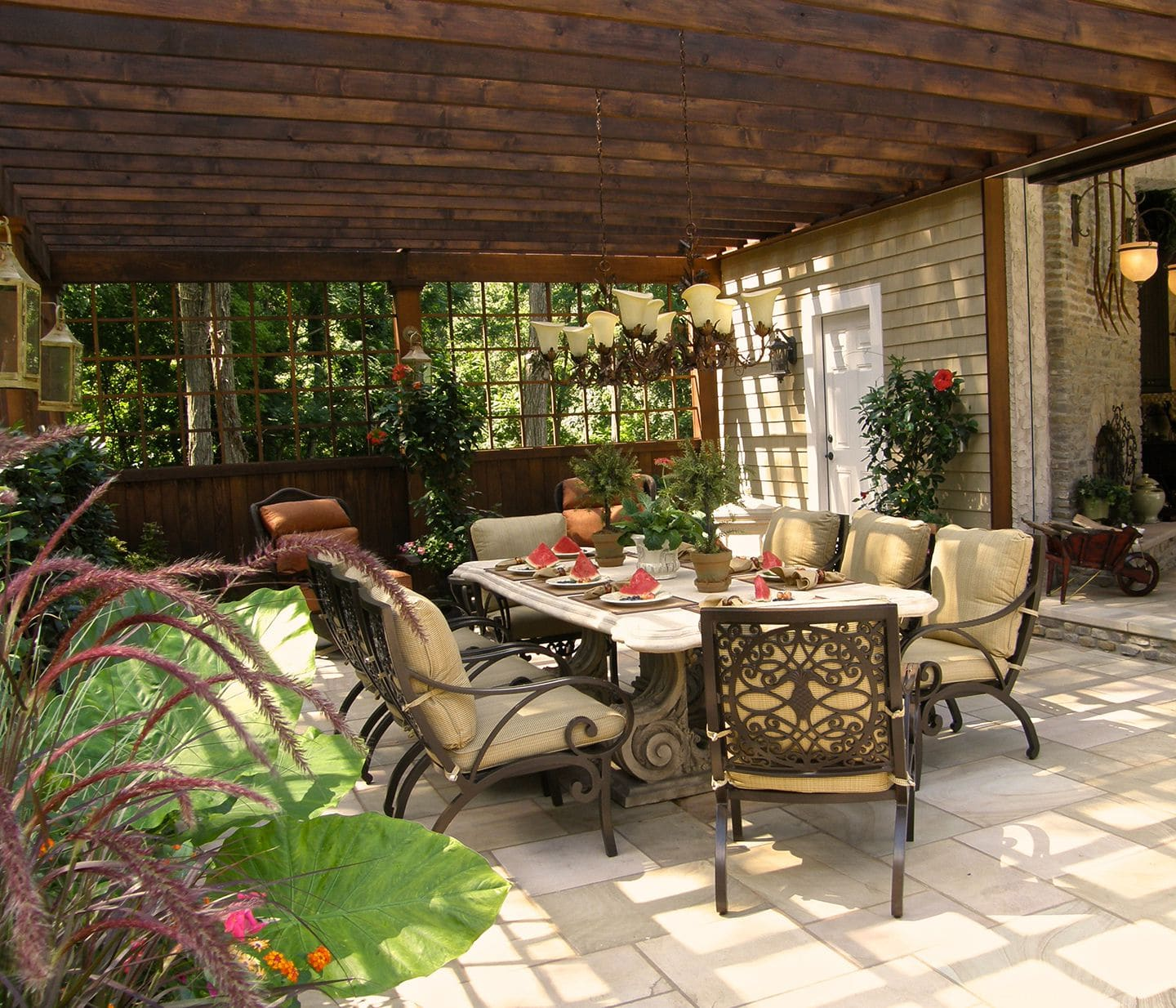 outdoor dining room evenflow interiors